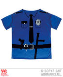 Mens Police officer T-Shirt Costume for Cop Fancy Dress Cosplay Outfit
