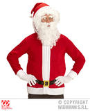 Mens SANTA CLAUS JACKET Accessory for Father Christmas Fancy Dress