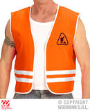 Mens CONSTRUCTOR vest Accessory for Workmen Builder Bob Fancy Dress
