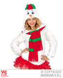 Ladies SNOWMAN HOODIE Costume Frozen Arctic Christmas nativity Fancy Dress