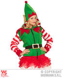 Ladies ELF HOODIE Costume for Festive Dwarf Christmas Helper Fancy Dress Outfit