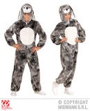Ladies PLUSH GREY BUNNY hooded jumpsuit with mask Rabbit s Easter Fancy Dress