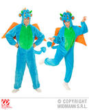 Mens PLUSH DRAGON hooded jumpsuit with mask Welsh Wales St George Fancy Dress