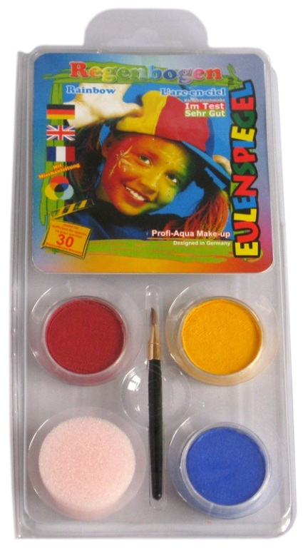 Designer A Face Pack Rainbow Motif Set Face Body Paint Makeup