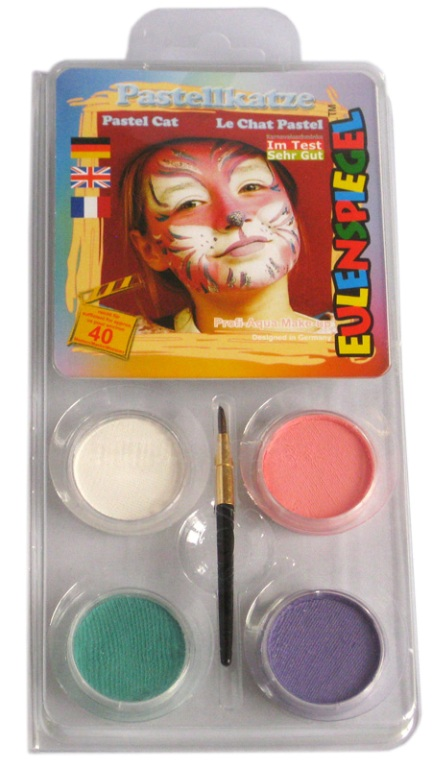 Designer A Face Pack Pastel Cat Face Body Paint Makeup