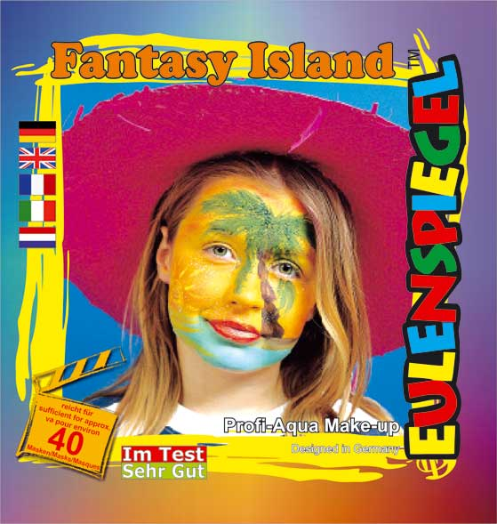 Designer a Face Pack Fantasy Island Face Body Paint Makeup Fancy Dress