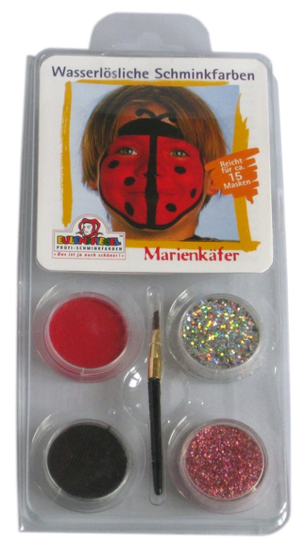 Designer A Face Pack Lady Beetle Face Body Paint Makeup