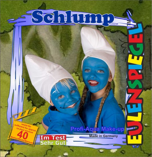 Designer A Face Pack Schlump (Smurff) Face Body Paint Makeup Fancy Dress