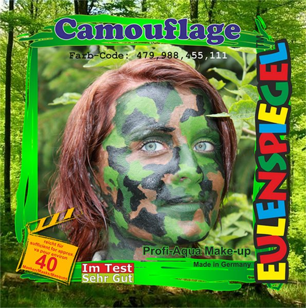 Designer A Face Pack Camouflage Face Body Paint Makeup Fancy Dress