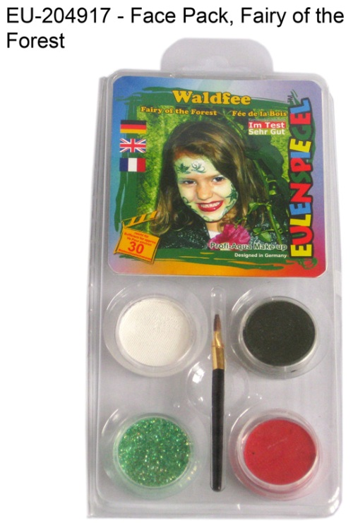 Designer A Face Pack Fairy of the Forest Face Body Paint Makeup Fancy Dress