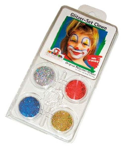 Glitter Motif Set Face Clown Face Body Paint Makeup