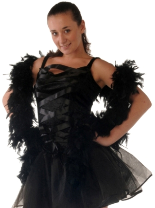 Boas 1.8m Black Feather Garland Moulin Rouge 20s Fancy Dress Accessory