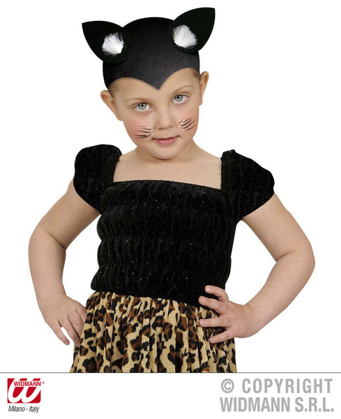CAT CAP FELT BLACK Hat Accessory for Feline Pussy Pet Animal Fancy Dress