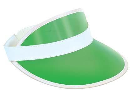 Clear Green Plastic Dealer's Visor for Vegas Poker Gambling Fancy Dress Accessor