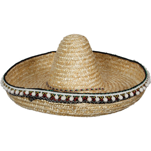 Mexican Sombrero Hat for Hispanic Wild West Cowboy Bandit Fancy Dress