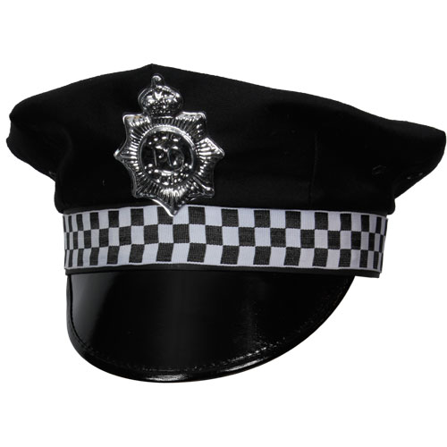 Police Hat for Cop Policeman Copper Bobby Fancy Dress