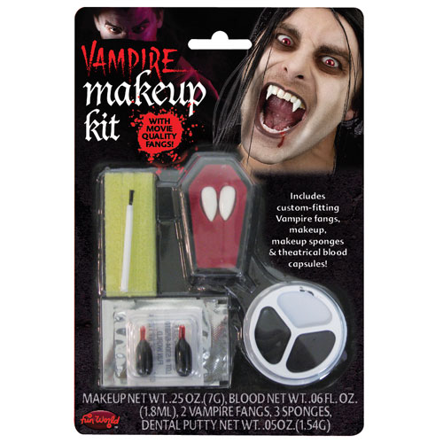 Vampire Make Up Kit with Fangs Makeup for Fancy Dress