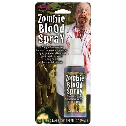 Zombie Blood Spray 2 oz Bottle Makeup for Fancy Dress