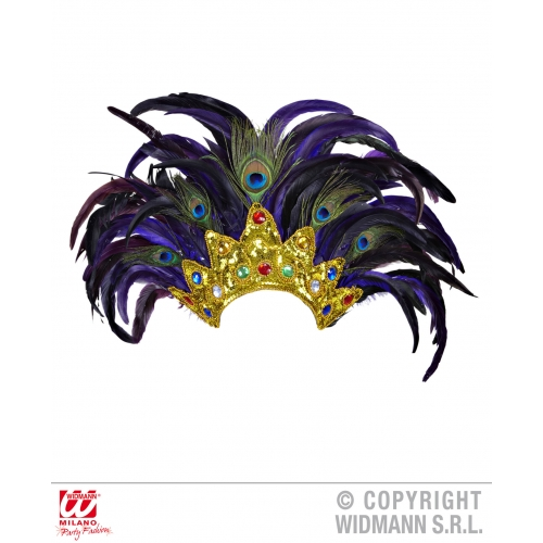 BAHIA SHOW FEATHER HEADDRESS Venetian SHOW FEATHER HEADDRESS Hat Accessory for Renaissance Shakespear Fancy Dress