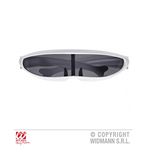 WHITE ROBOT GLASSES Accessory for Droid Android Space Sci Fi Fancy Dress