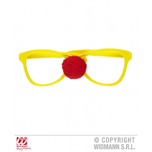 GIANT GLASSES WITH CLOWN NOSE Accessory for Circus FunFair Parade Fancy Dress