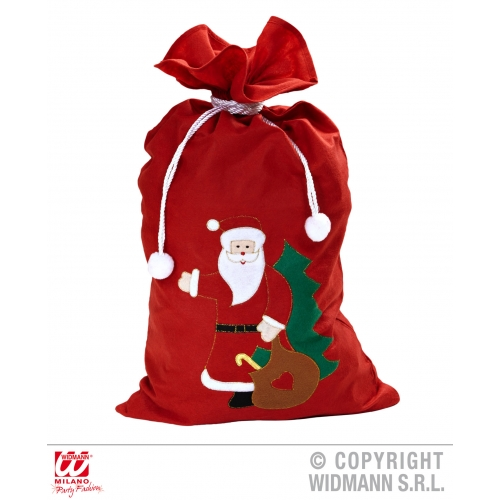 ORATED SANTA CLAUS SACK 60cm x100cm Decoration for Father Christmas Party