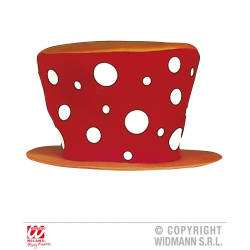 HAT - RED CLOWN MAXI Accessory for Circus FunFair Parade Fancy Dress