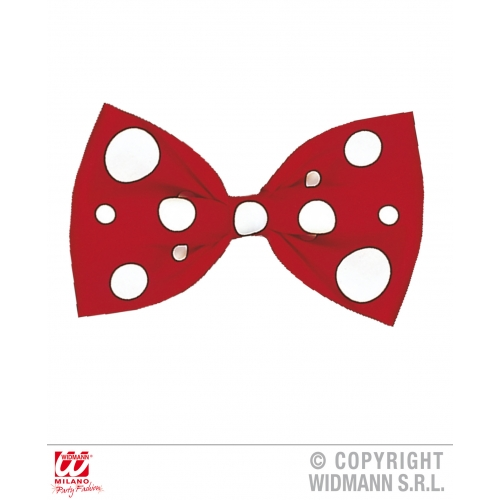 BOW TIE - RED CLOWN MAXI Decoration for Circus FunFair Parade Party