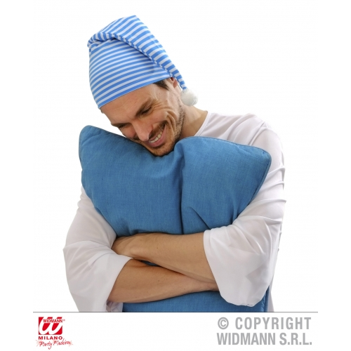 BLUE NIGHTCAP Adult Unisex NIGHTCAP Accessory for Wee Willie Winky Fancy Dress Unisex Mens