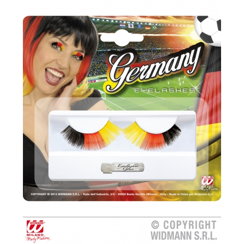 Germany Eyelashes Makeup for Football Sport Events Fan Supporters Stage Accessor