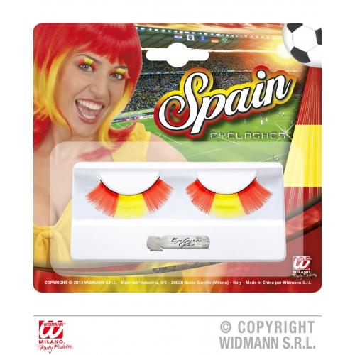 SPAIN EYELASHES (glass glue bottle) SFX for Spanish National Dress Basque Cosmetics