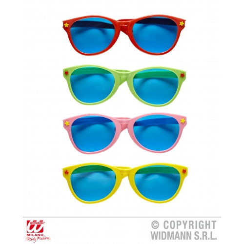GIANT SUNGLASSES red green pink yellow Accessory for Fancy Dress