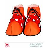 SHOES - ORANGE WITH RED CLOWN MAXI Accessory for Circus FunFair Parade Fancy Dress
