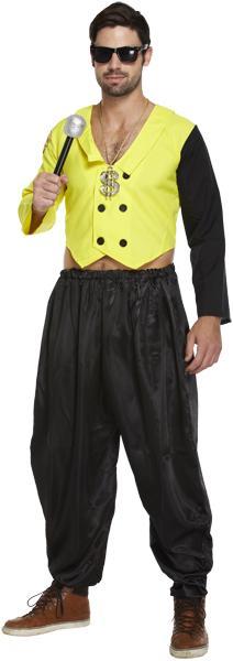 Adult Mens 80u0027S Rap King Costume for 90s Fancy Dress APPROX Chest38-44  sc 1 th 235 & Adult Mens 80u0027S Rap King Costume for 90s Fancy Dress APPROX Chest:38 ...