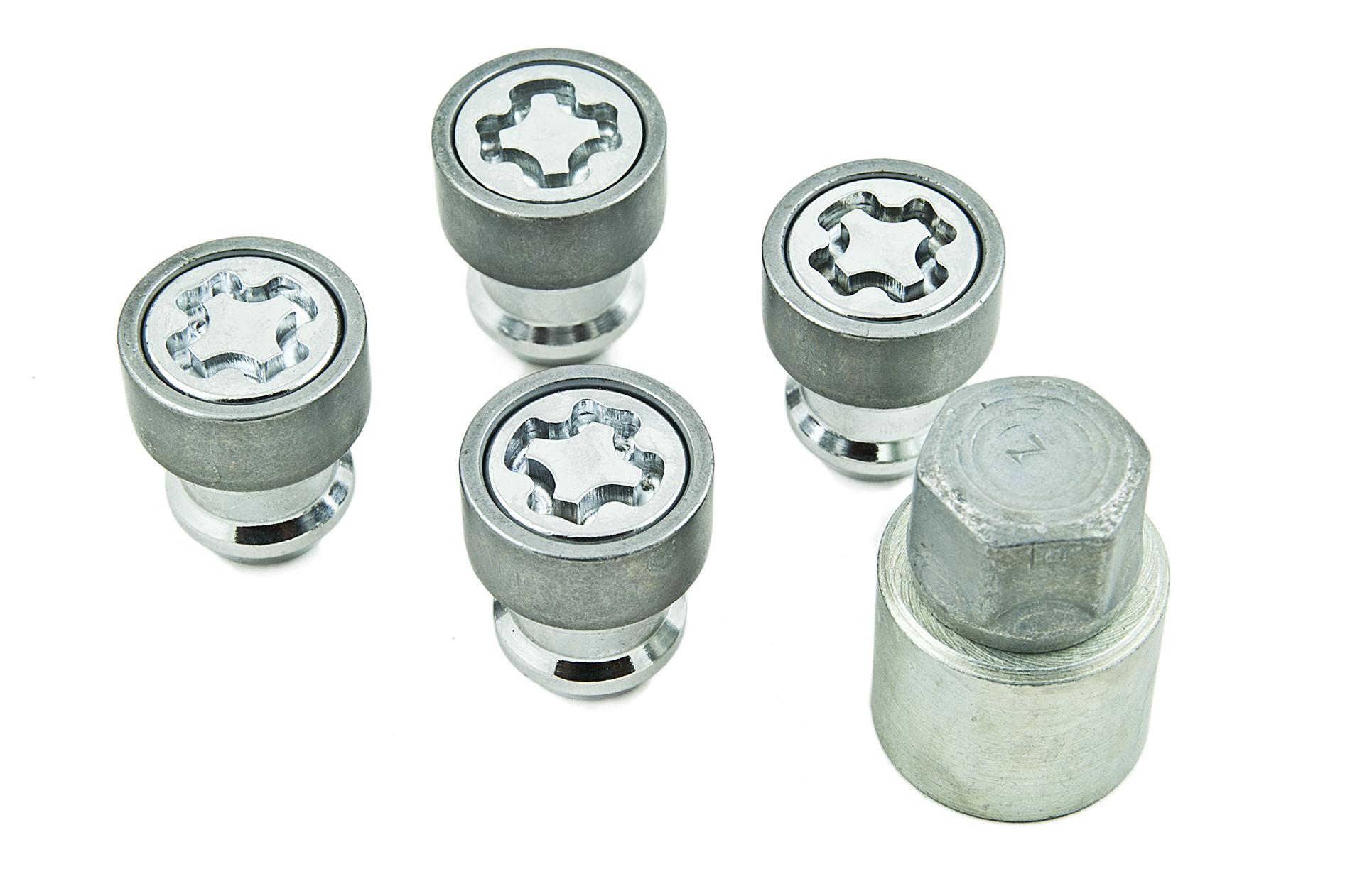 nissan genuine alloy wheel locking wheel nuts bolts lock set key  ebay