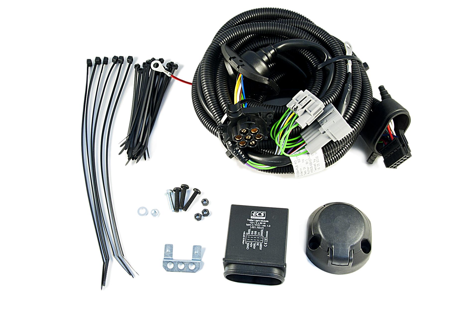 Nissan Genuine 7 Pin Electrical Kit Wiring For Towbar Hitch Trailer Ke505ebn07ab