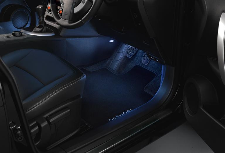 B D Jd A Qashqai Ambiance Lighting on Nissan Seat Covers