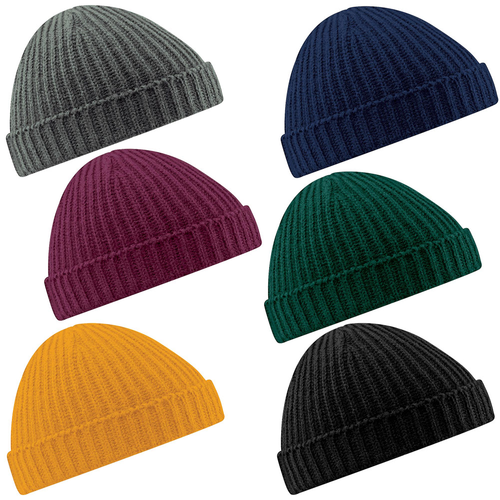 869959de093fb Details about New BEECHFIELD Unisex Retro Fashion Fisherman Trawler Knit Beanie  Hat 6 Colours