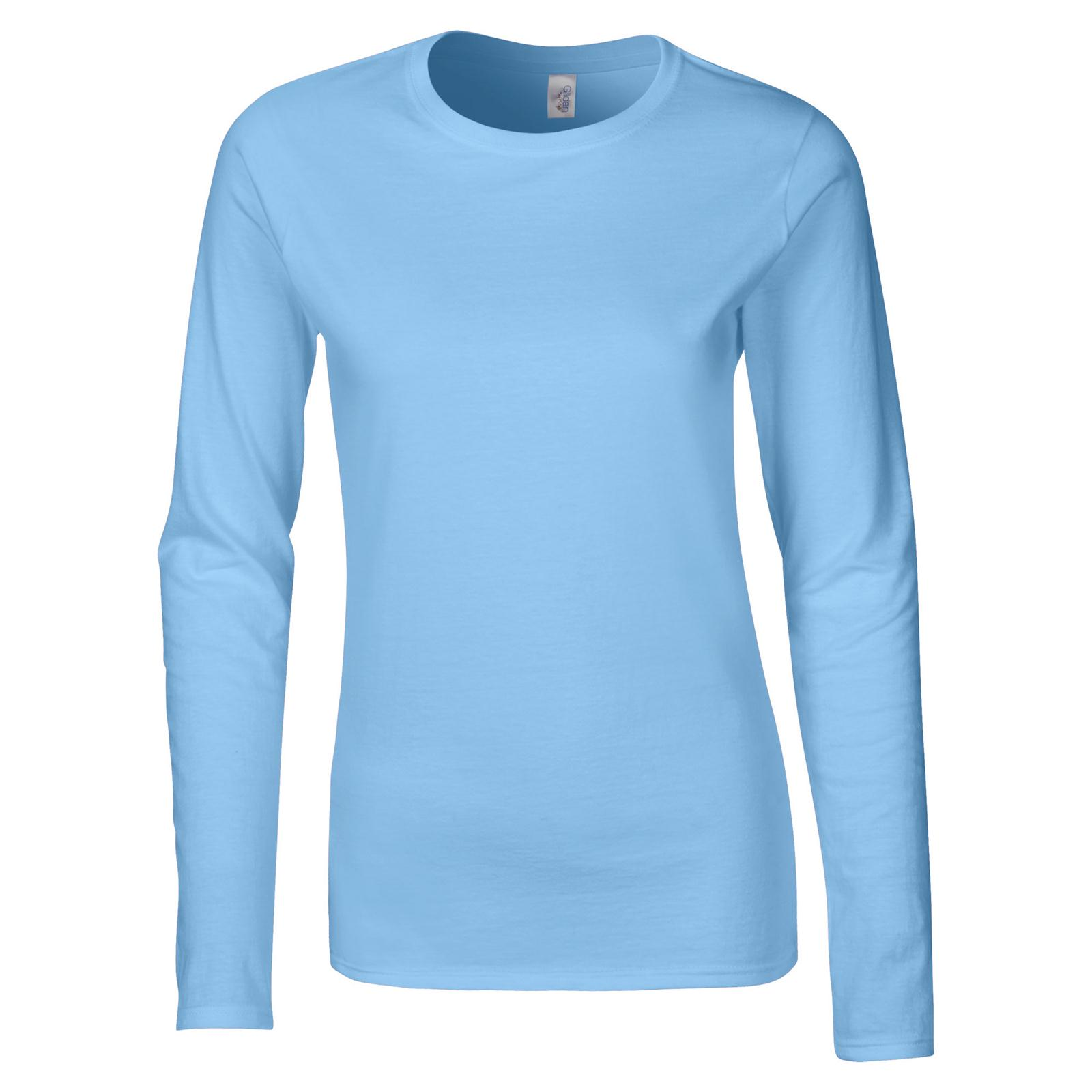 fe007784dd3 Gildan Womens Ladies Soft Style Cotton Long Sleeve T Shirt in 7 ...