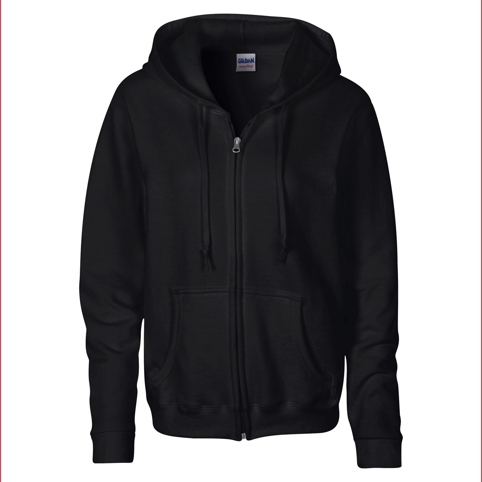 Gildan Womens Ladies Heavy Full Zip up Hoodie Sweatshirt in 6 ...
