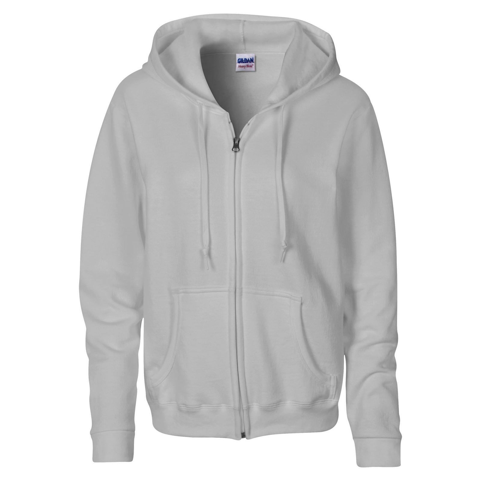 new gildan womens ladies heavy full zip up hoodie sweatshirt in 6 colours s