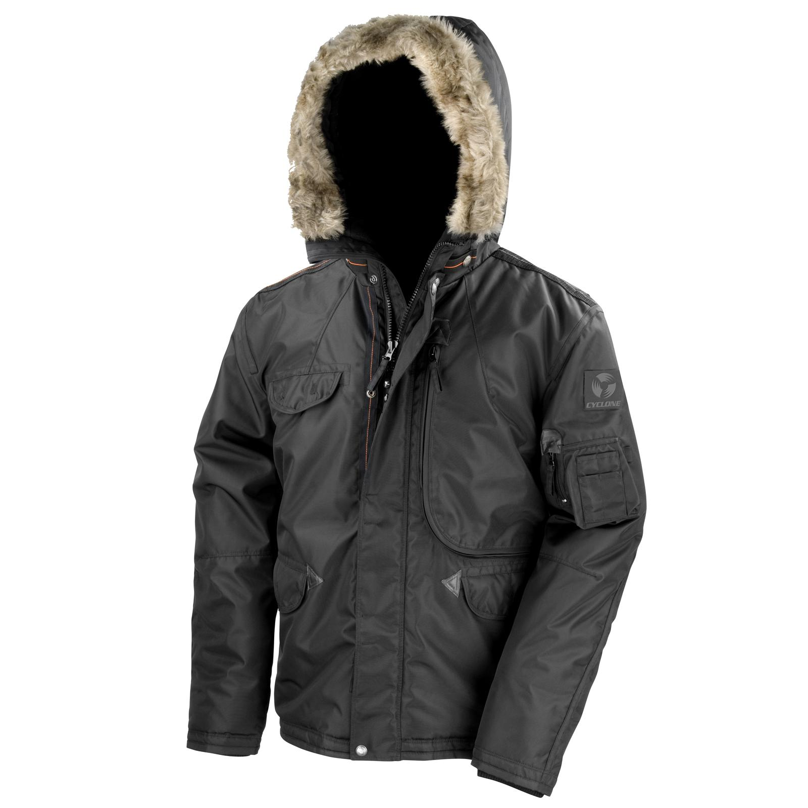 d50629d1a Details about New RESULT Mens Urban Outdoor Warm Ultimate Cyclone Parka  Jacket Black S-3XL