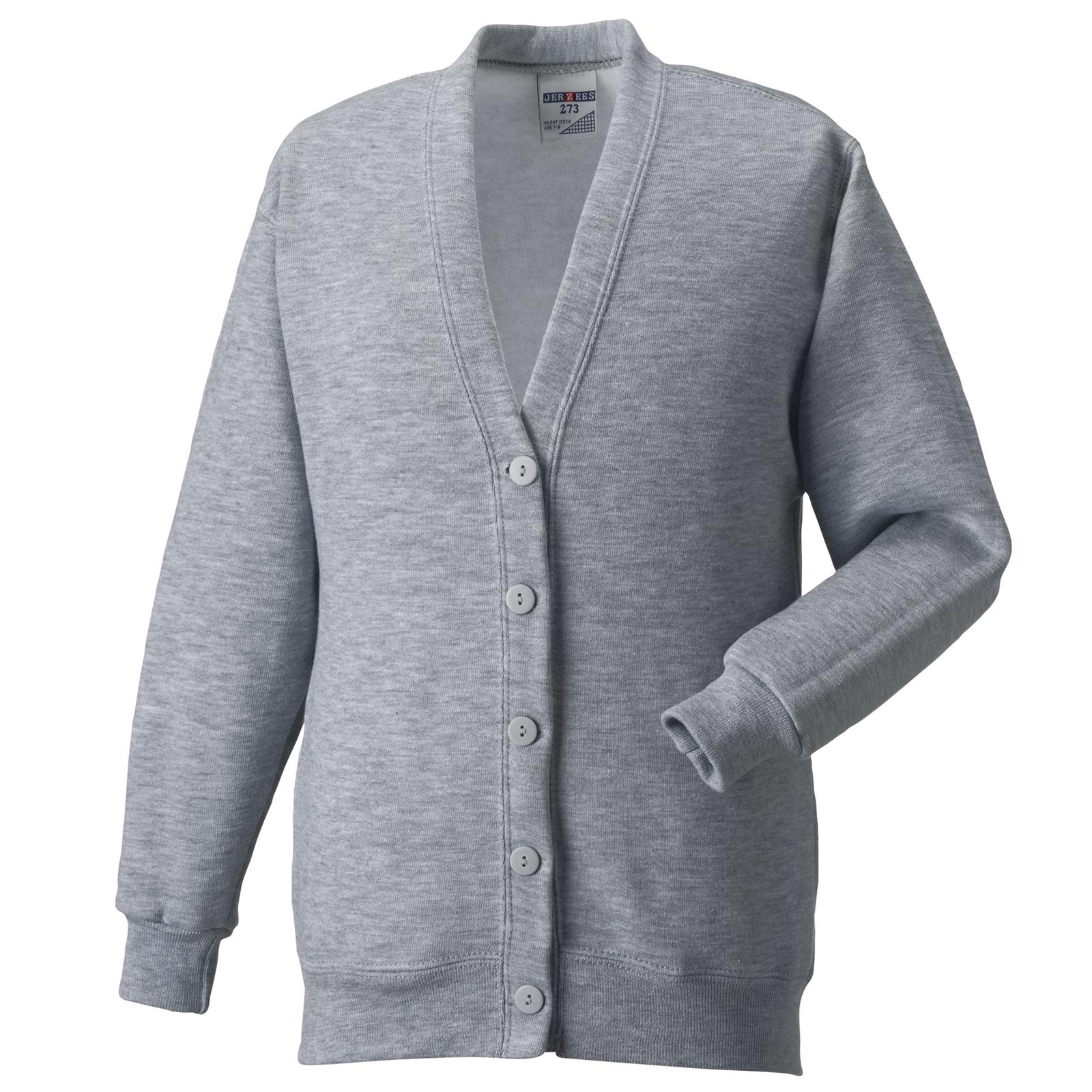 Jerzees Fashion Mens Womens Fleece Cardigan Sweatshirt in 8 ...