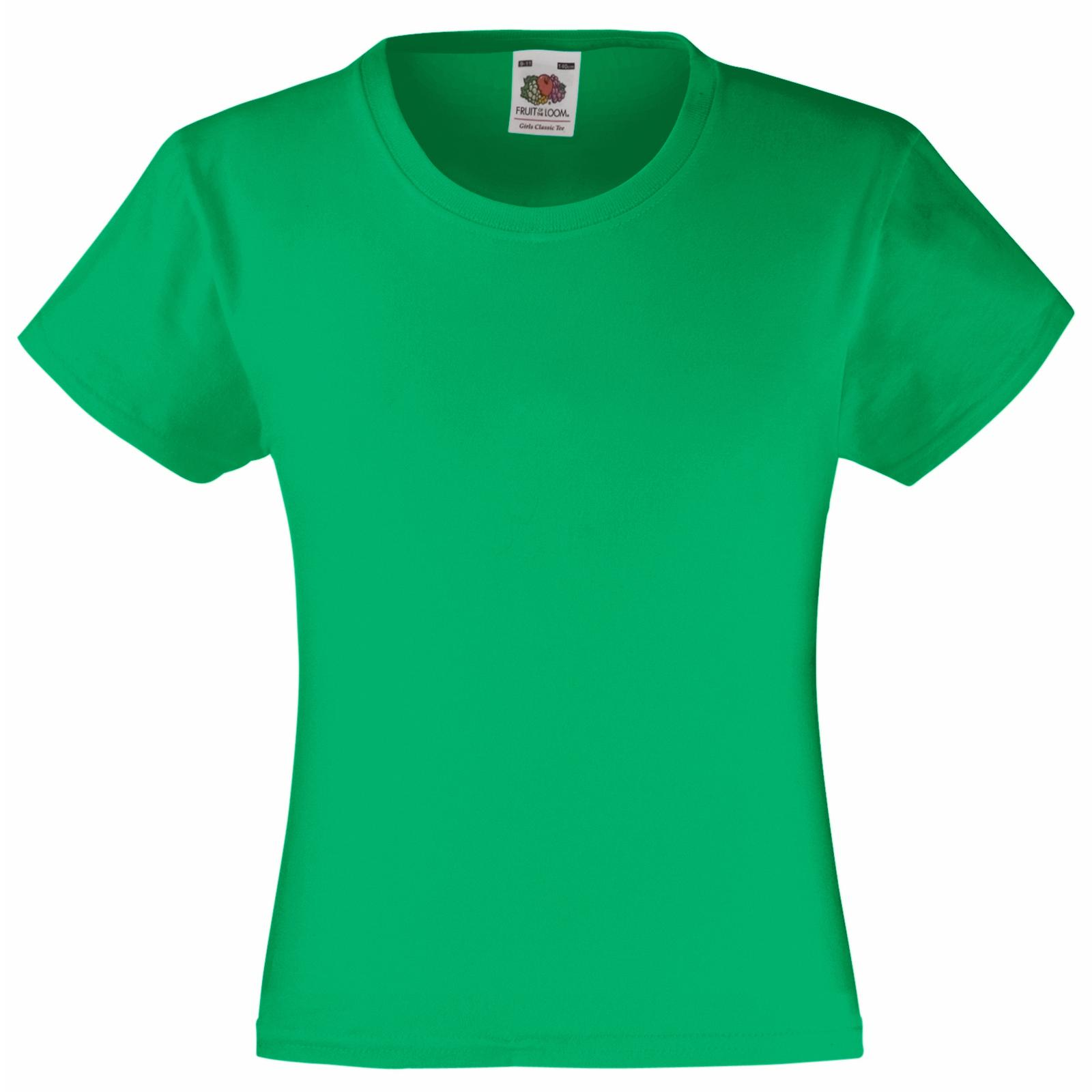 White Fruit of the Loom Girls Valueweight T-Shirt Pack of 5 Manufacturer Size:30 7-8 Years