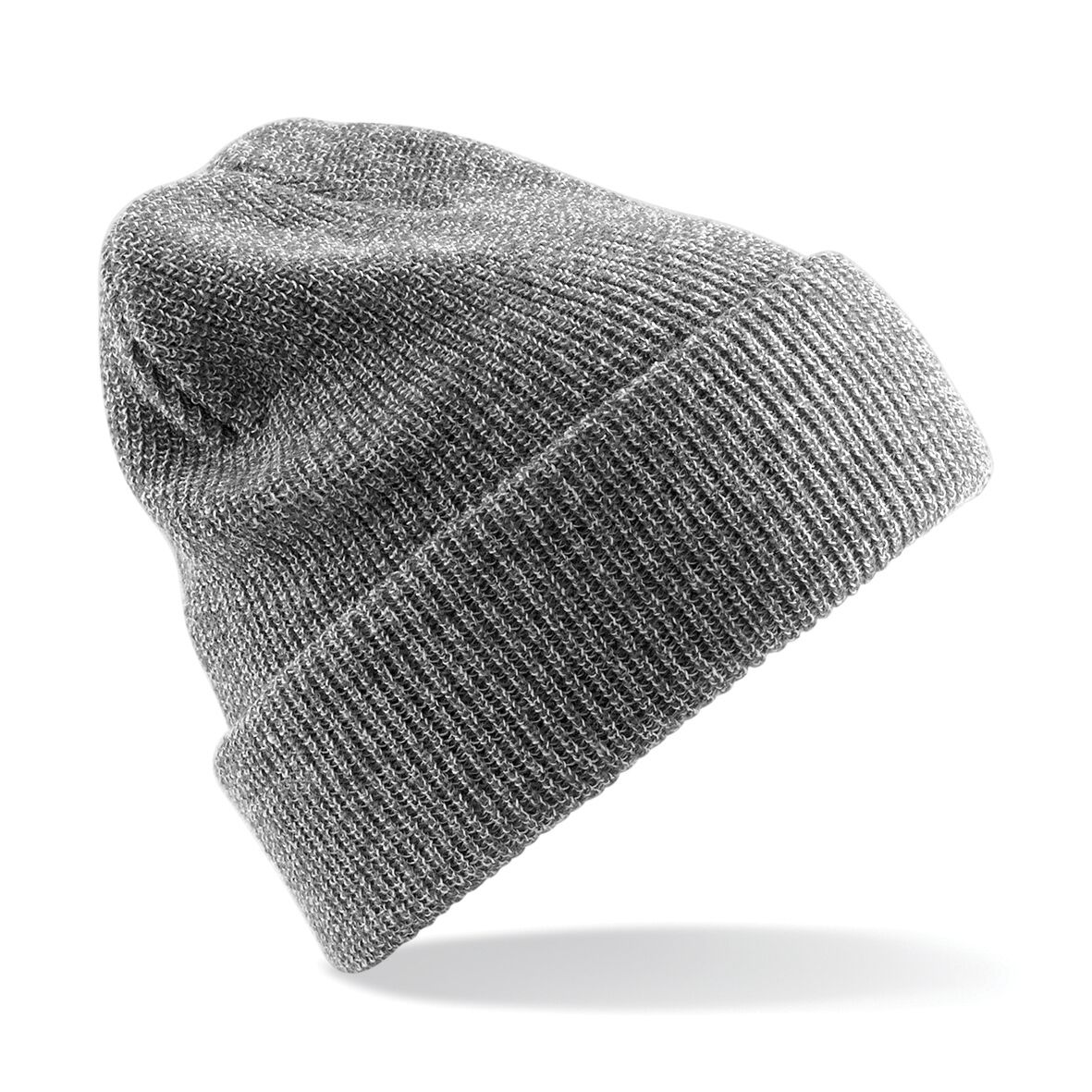 Unisex Beechfield Heritage Vintage Double Knit Beanie Hat Heather Grey One  Size. About this product. Picture 1 of 2  Picture 2 of 2 8f5d0ef909cf