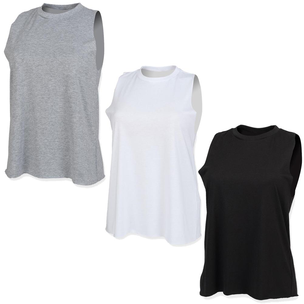 ec6026d64c New SF Womens High Neck Sleeveless Vest Ladies Plain Summer Tank Top Size  XS-2XL