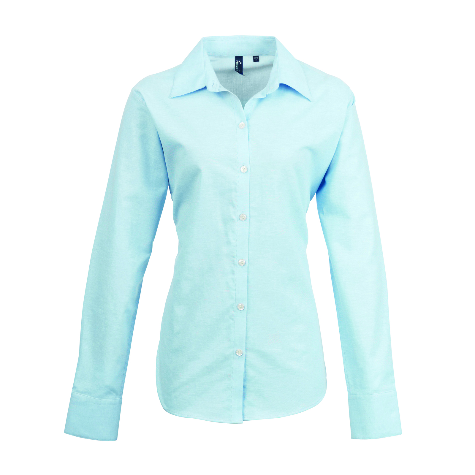 3bb8f39d55 Womens Light Blue Cotton Blouse