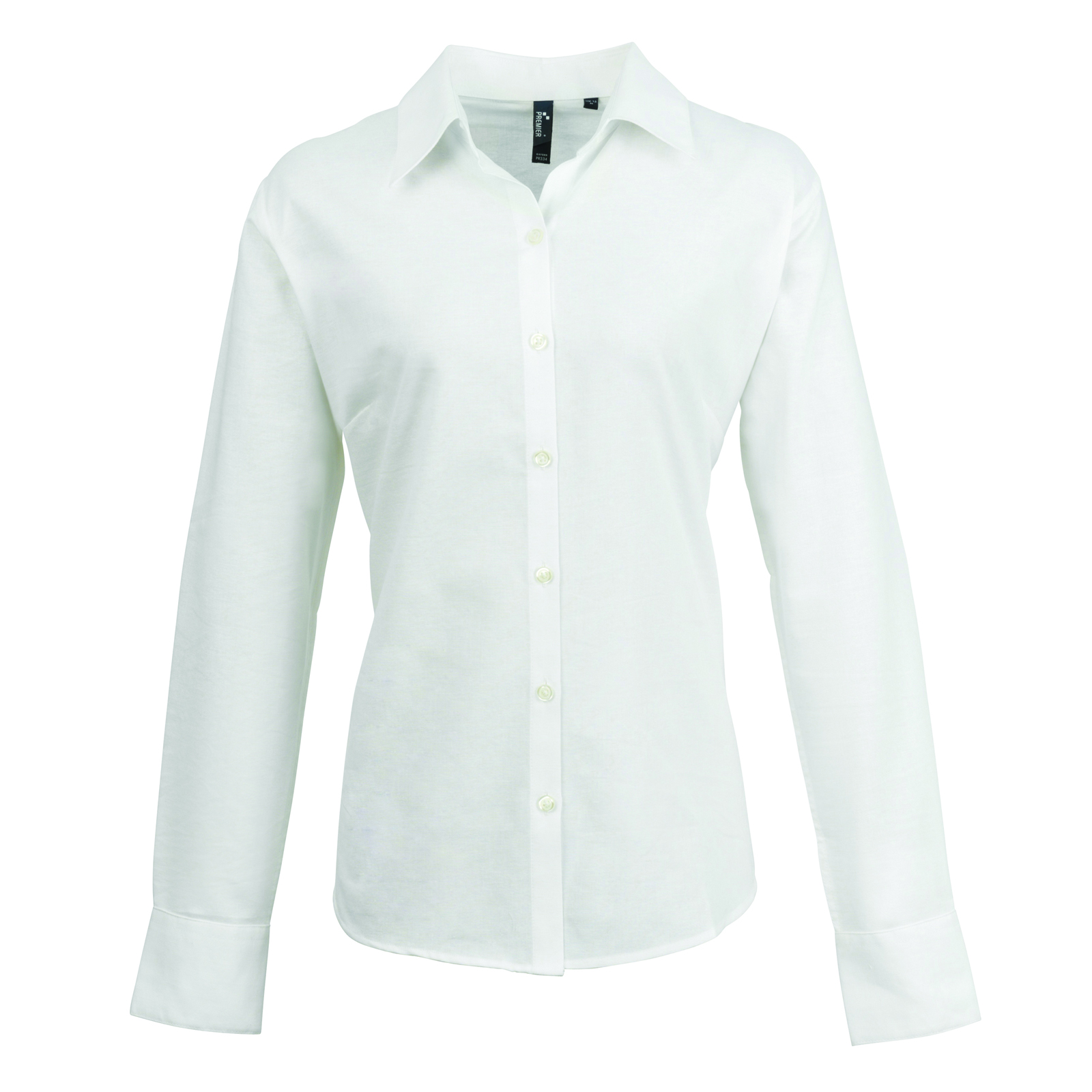 New premier womens smart oxford ladies long sleeve for Women s collared button up shirts