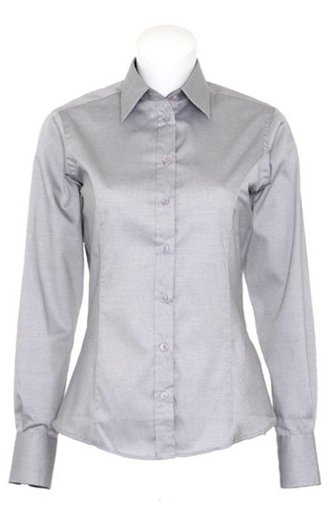 Kustom-Kit-Womens-Collared-Contrast-Premium-Oxford-Long-Sleeve-Shirt-Size-8-18