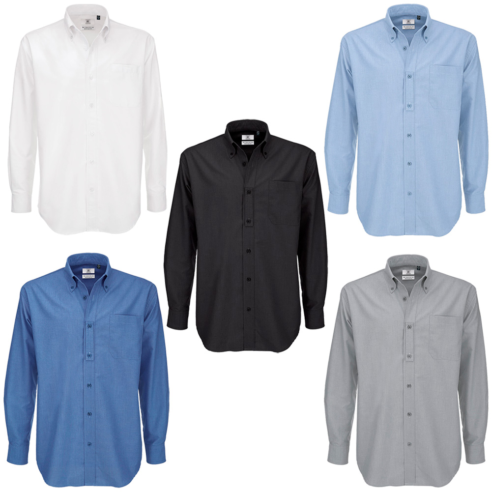 98918e576 Details about Men B&C Collection Button Down Collar Long Sleeve Formal  Shirt Top Size S-6XL